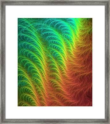 Fractal Ripples Framed Print