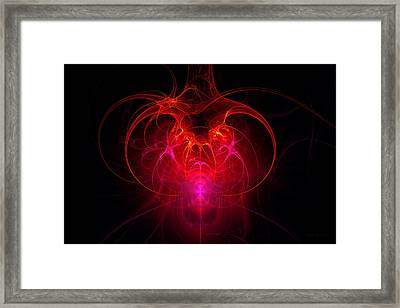 Fractal - Science - The Neural Network Framed Print by Mike Savad