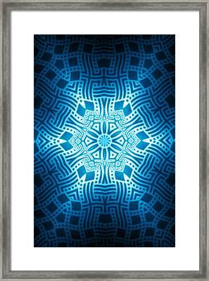 Fractal Snowflake Pattern 2 Framed Print