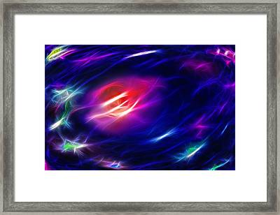 Fractal Space 3 Framed Print by Steve Ohlsen