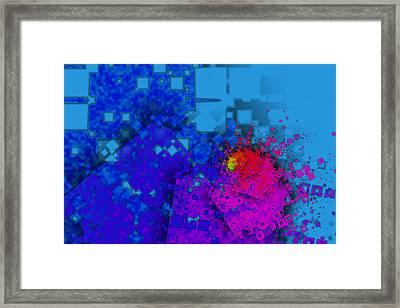 Fractal Spiral Of Squares Framed Print by Hakon Soreide