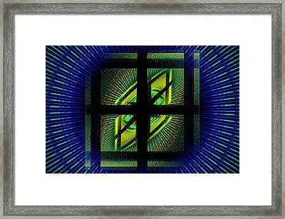 Fractal Squares And Vortex Pattern Framed Print