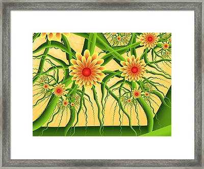 Fractal Summer Pleasures Framed Print