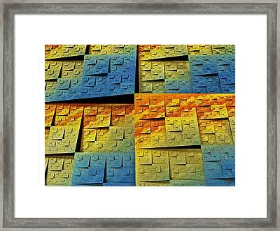 Fractal Tectonics Framed Print by Manny Lorenzo