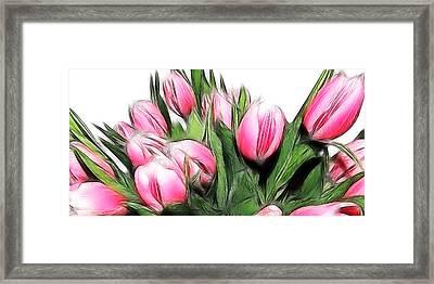 Fractalius Tulips 4 Framed Print by Sharon Lisa Clarke
