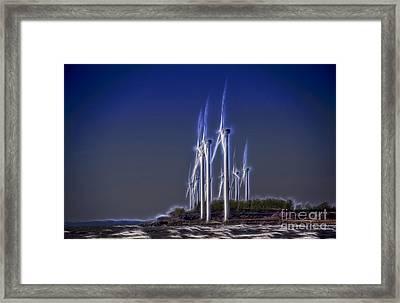 Fractalius Windmills Framed Print