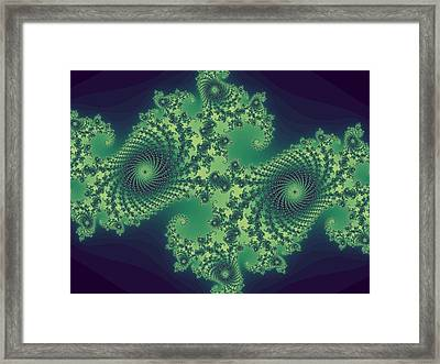 Fractals For Lane  Mapping Framed Print by Mary Ann Southern