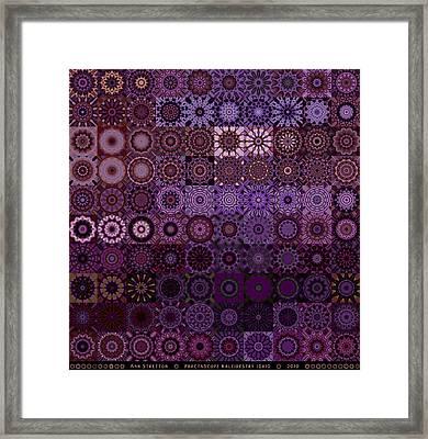 Fractascope Kaleidestry 10x10 Framed Print