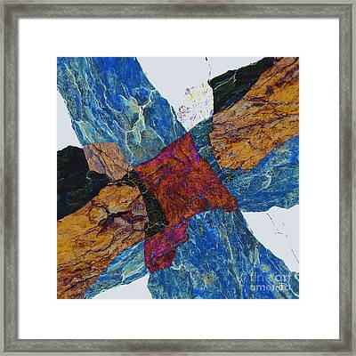 Fracture Section X Framed Print