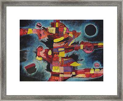 Fractured Fire Framed Print by Mark Jordan