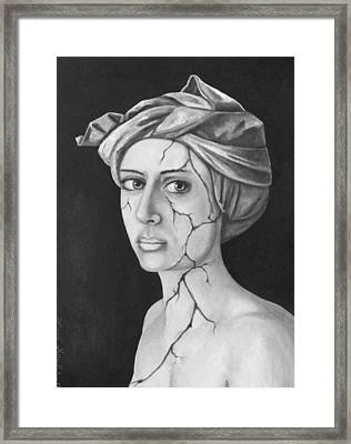 Fractured Identity Bw Framed Print by Leah Saulnier The Painting Maniac