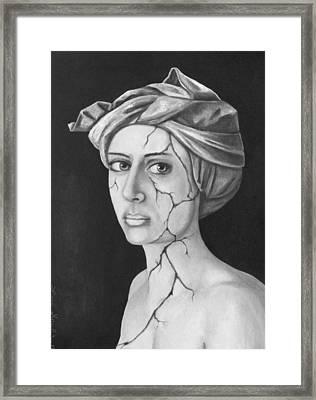 Fractured Identity Bw Framed Print