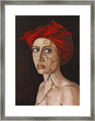 Fractured Identity Edit 3 Framed Print by Leah Saulnier The Painting Maniac