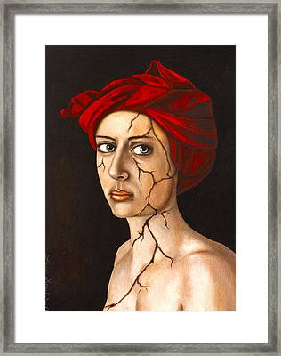 Fractured Identity Edit 4 Framed Print by Leah Saulnier The Painting Maniac