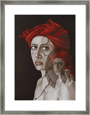 Fractured Identity Edit 8 Framed Print by Leah Saulnier The Painting Maniac