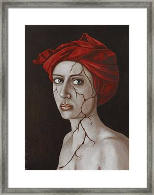 Fractured Identity Edit 9 Framed Print by Leah Saulnier The Painting Maniac