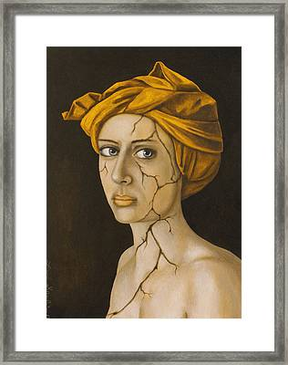 Fractured Identity In Gold Framed Print
