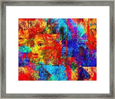 Fractured Framed Print by Patricia Motley