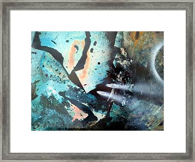 Fractured Planet Framed Print
