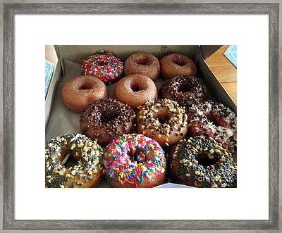 Fractured Prune Donuts Framed Print