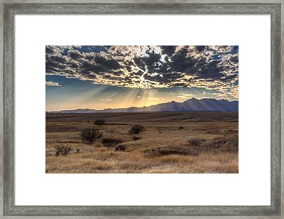 Framed Print featuring the photograph Fractured Sky by Beverly Parks