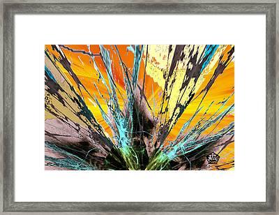 Fractured Sunset Framed Print