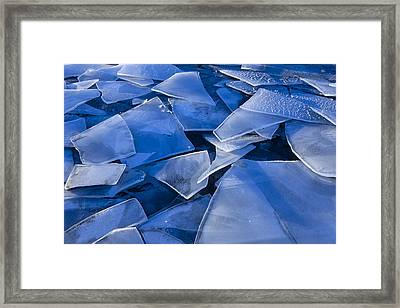 Fractured Surface Ice Drifted To The Framed Print by John Hyde