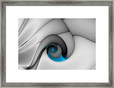 Fractures Curl Blue Framed Print by Mark Eggleston