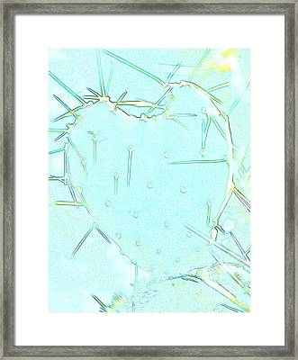 Framed Print featuring the photograph Fragile Heart by Roselynne Broussard