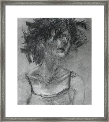 Gathering Strength - Original Charcoal Drawing - Contemporary Impressionist Art Framed Print