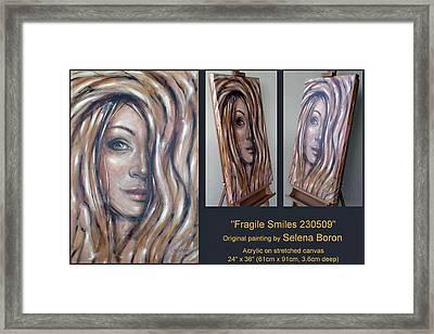 Fragile Smiles 230509 Comp Framed Print by Selena Boron