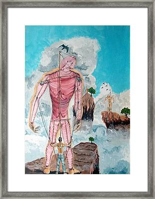 Fragiles Colossus Framed Print