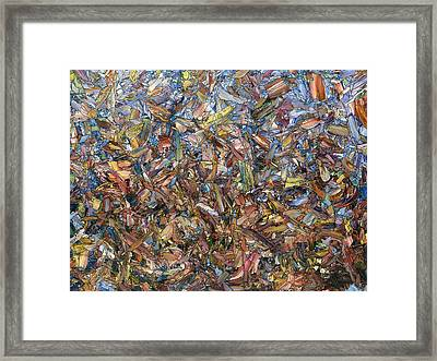 Fragmented Fall Framed Print by James W Johnson