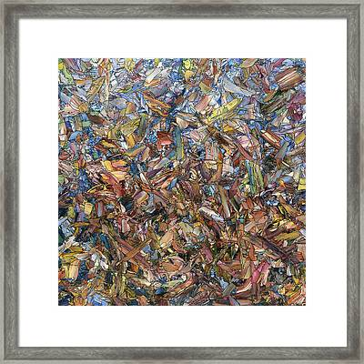 Fragmented Fall - Square Framed Print by James W Johnson