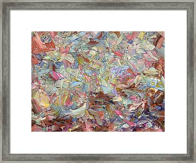 Fragmented Hill Framed Print