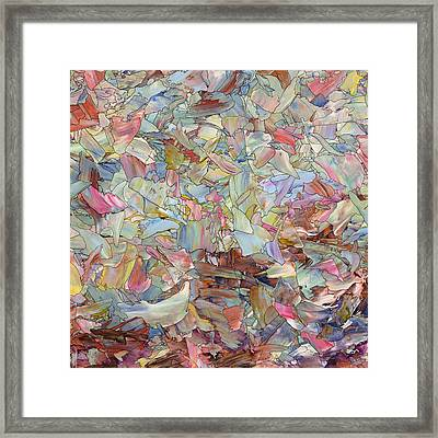 Fragmented Hill - Square Framed Print by James W Johnson
