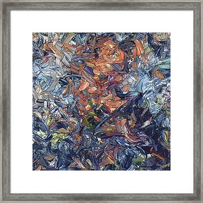 Fragmented Man - Square Framed Print by James W Johnson