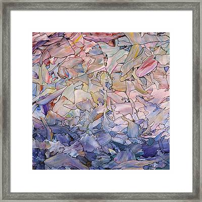 Framed Print featuring the painting Fragmented Sea - Square by James W Johnson