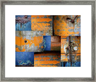 Fragments Antique Metal Framed Print by Ann Powell