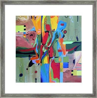 Fragments Number 10 Again Framed Print by Randall Weidner