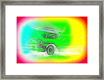 In Your Future I Can See Fragments Of An Old Car Called Bel Air  Framed Print