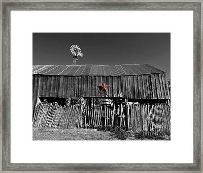 Fragments Of Color Barn Framed Print by Julian  Walters