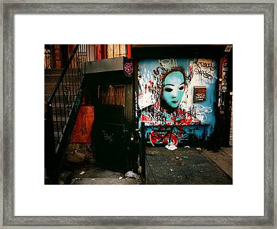 Fragments - Street Art - New York City Framed Print
