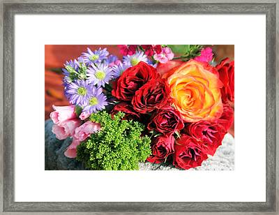 Fragrant Bouquet Framed Print by Paulette Maffucci