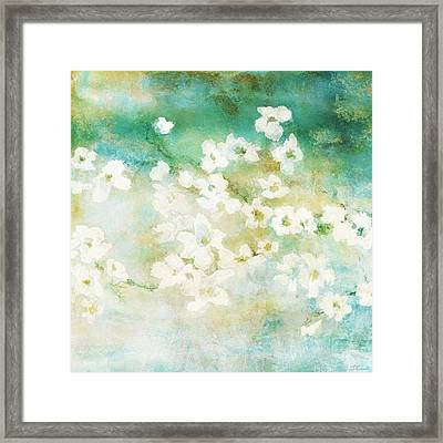 Fragrant Waters - Abstract Art Framed Print by Jaison Cianelli