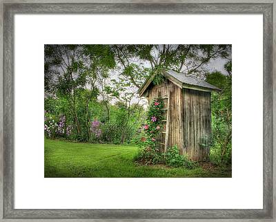 Fragrant Outhouse Framed Print by Lori Deiter