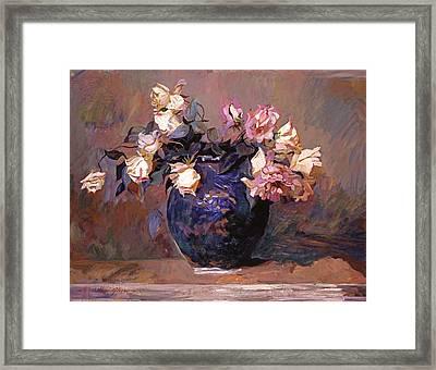 Fragrant Rose Petals Framed Print