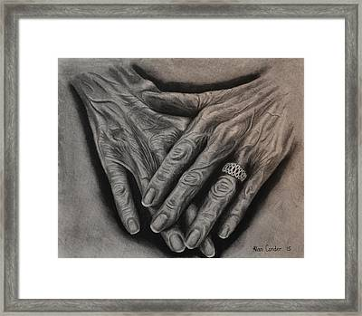 Frail And Dignified Framed Print
