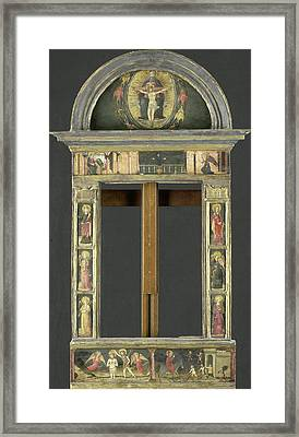 Frame Depicting The Annunciation, Baptism Of Christ, Entry Framed Print by Litz Collection