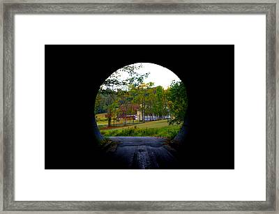 Framed By A Tunnel Framed Print